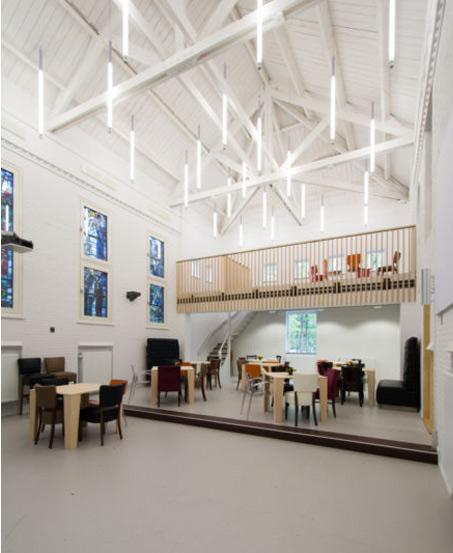 Interieurontwerp herbestemming oude kapel De Kempel Helmond